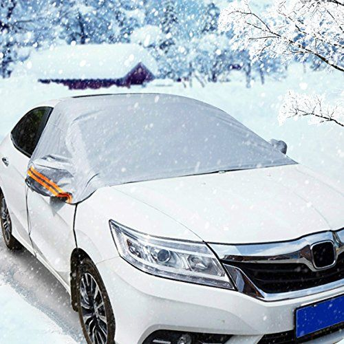 From 14.99 Audew Windshield Cover Snow Cover Ice Screen Sun Shade Protector Protects Windshield Wipers And Mirrors Weatherproof Anti-fouling Sun-proof Standard ( Fit Family Car)