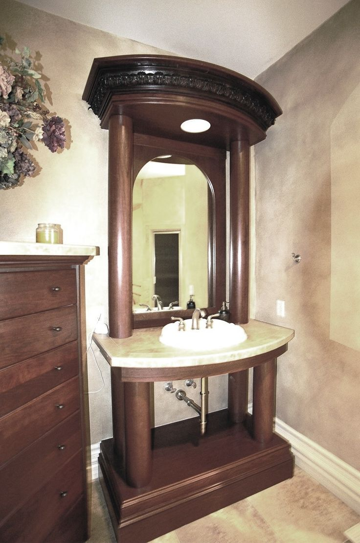 Grand Bathroom Vanity. Classic Roman Style. Part 46