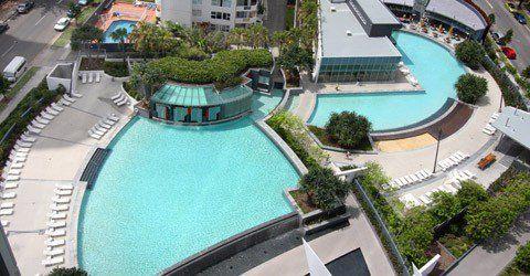 Q1 Resort - Swimming Pool Aerial View - Q1 Resort Accommodation