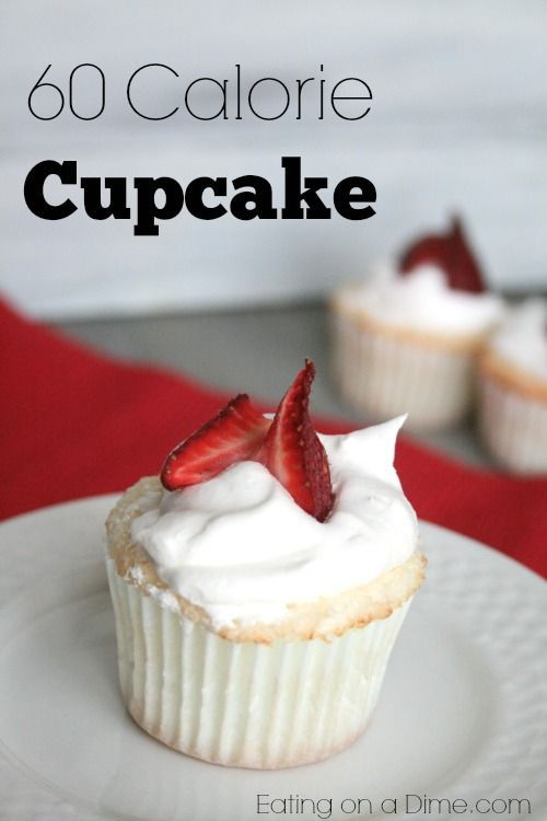 Want an low calorie cupcake? Make these delicious Angel Food Cupcakes that are under 60 calories each!