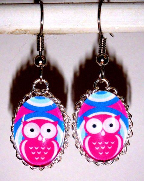 Ohrringe - Ohrringe Eule Tiere Damen Ohrschmuck Modeschmuck - ein Designerstück von ausgefallene-Ohrringe bei DaWanda
