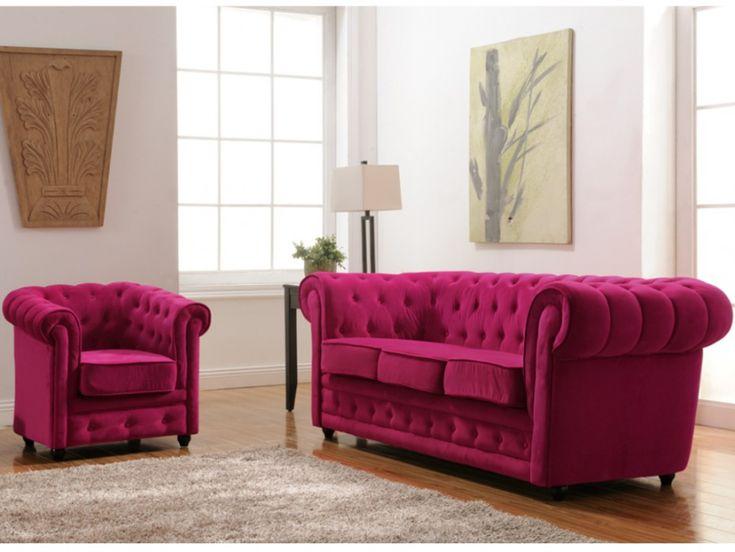 Chesterfield Sofas U0026 Sessel Samt Imen   2 Farben