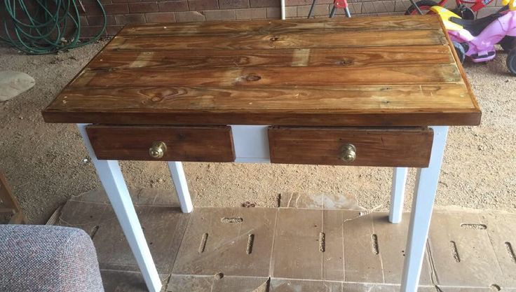 Upcycled hall table I done up