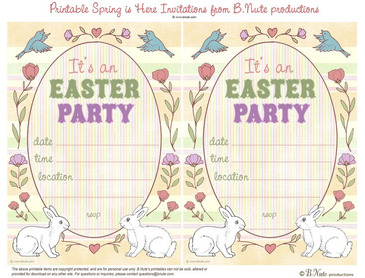 Best  Easter Invitations Ideas On   Whole Rabbit