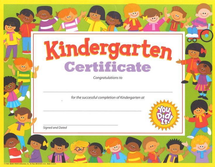 kindergarten graduation certificate - free printable