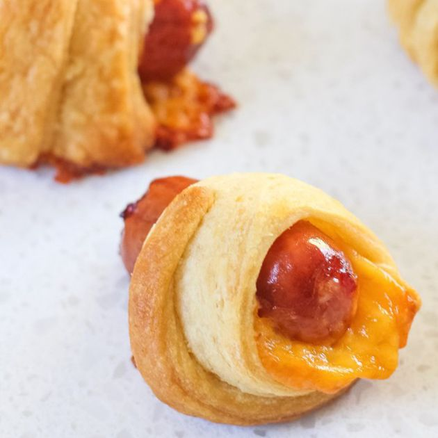 Cheesy Pigs in a Blanket | Brides.com