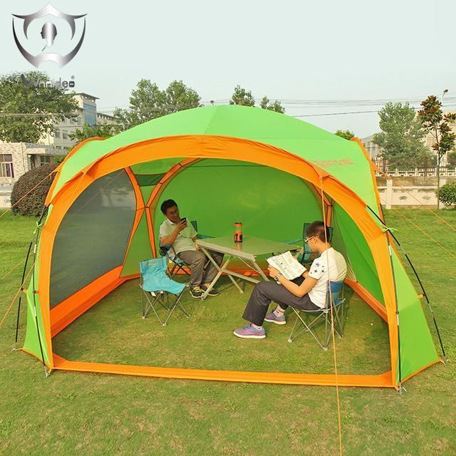 Outdoor Awning Beach Tent Sunshade Weather Shelter Camping Tarp Fishing Umbrella with Sides for 5 or 8 Person ZS6-2602 #FishingUmbrella