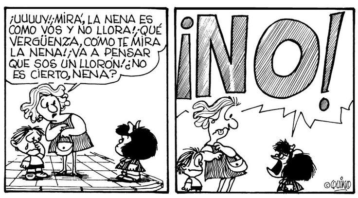 #Mafalda muestra cómo, sin cuestionar, la sociedad transmite estereotipos de género.  #estereotipo #genero
