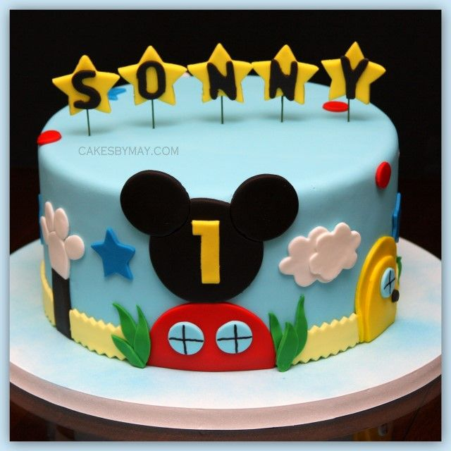 My niece wants me to do a Mickey Mouse Clubhouse cake for her son's first birthday - This is my inspiration.