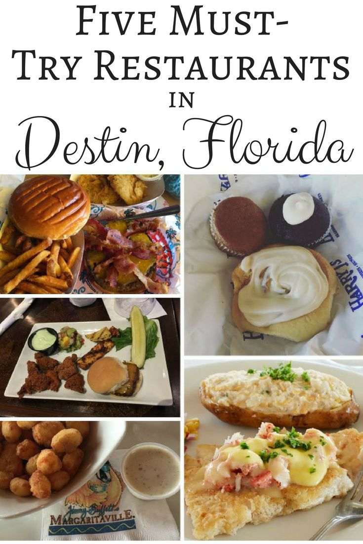 Looking for a great place to eat in Destin Florida? Destin is known for delicious seafood and a unique take on many American favorites!