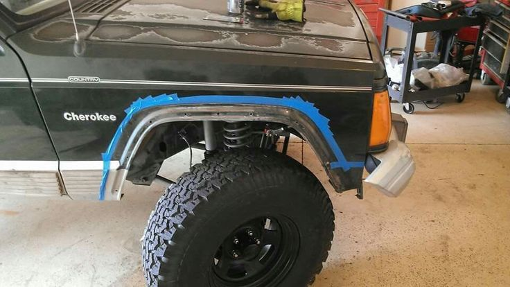 The flex lift required a little more clearance on the front fenders