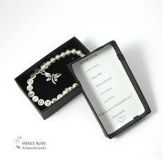 Accessoires - Armband Trauzeugin fragen Geschenk Hochzeit Perlen Armband Brautjungfer Trauzeuginnen Armband Geschenkschachtel Freundin fragen Antrag Trauzeugin - ein Designerstück von sweetrosy bei DaWanda