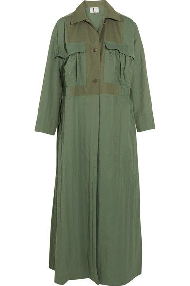 Topshop Unique | Redford oversized cotton canvas-paneled twill trench coat | NET-A-PORTER.COM