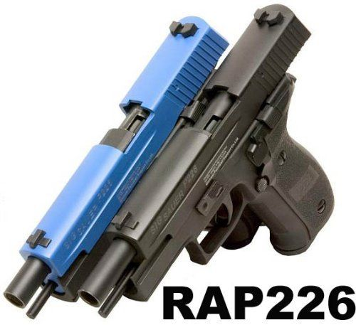 RAP226 Paintball Pistol (Internal Air) - paintball gun by Rap4. $331.50. The RAP226 is being upgraded to the RAM X50 - your order will be shipped with the RAM X50 in place of the RAP226. RAP226 is powered by a refillable internal built-in CO2 reservoir inside the handgrip which can shoot 20-30 rounds of .43 caliber paintballs per each fill. More information and specification
