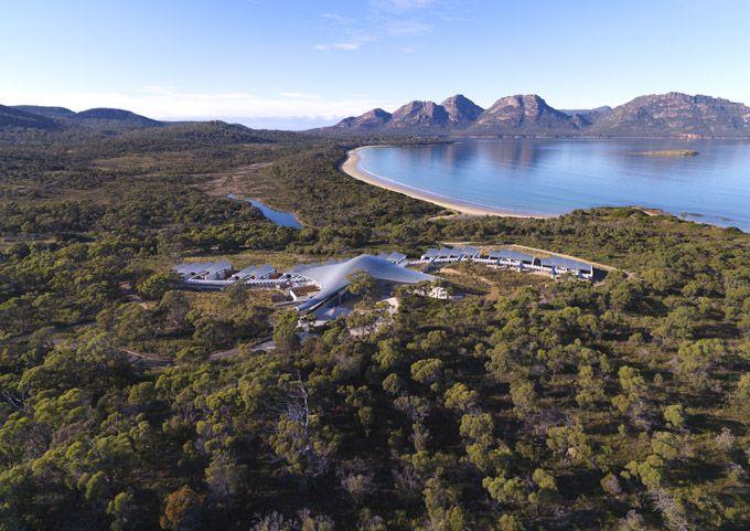 Saffire Freycinet, the luxury resort that just-opened on Tasmania's East Coast in Australia.
