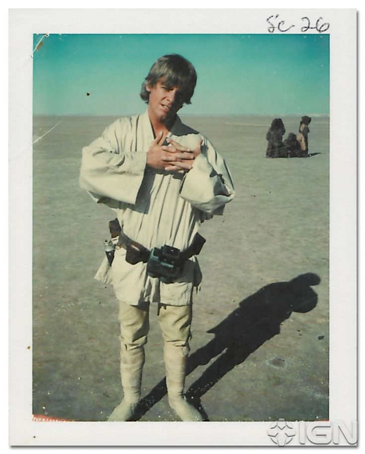 Brand-New Behind-the-Scenes Stills From Star Wars Episode IV: A New Hope -Mark cracks his knuckles again.