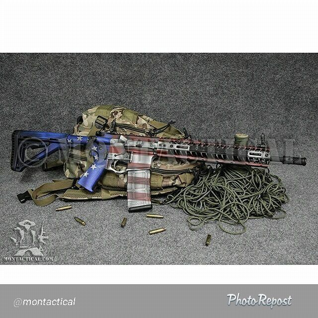 """DuraCoat """"American Crusader"""" by the guys at Montactical. American Flag Gun Finish."""