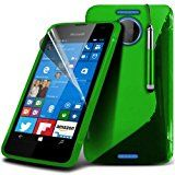 Microsoft Lumia 550 S-Line Wave Gel Case Cover (Green) Plus Free Gift, Screen Protector and a Stylus Pen, Order Now Best Valued Phone Case on Amazon! By FinestPhoneCases