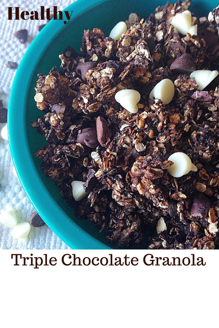 I am obsessed with making granola, I can't get enough. I eat it almost every day with yogurt for breakfast so I am constantly coming up with new flavor combinations to try. Having cocoa powder, coc...