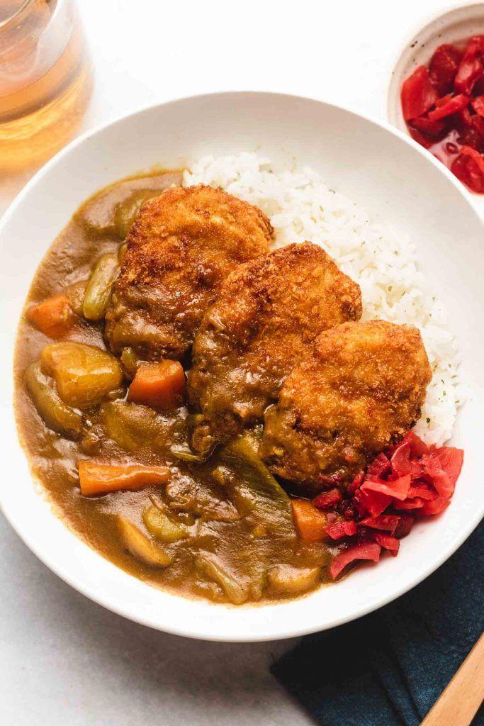 Tofu Katsu Curry Vegan Gf Option Okonomi Kitchen Recipe In 2020 Vegan Katsu Curry Curry Comfort Dishes