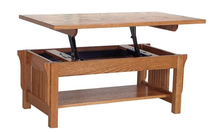 Diy wooden trunk coffee table lift top coffee table for Lift top coffee table building plans