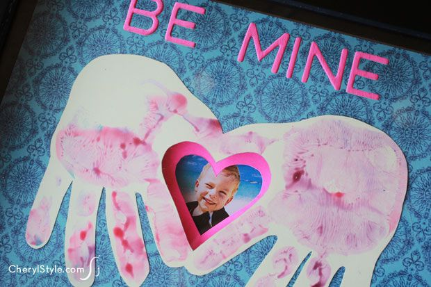 a handprint heart card is the perfect personalized valentine's day gift | cherylstyle.com