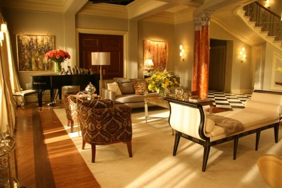 The Waldorf penthouse from Gossip Girl!  Love it!Dining Room,  Eating Places,  Eating House'S, Blair Waldorf,  Eatery, Interiors Design, Living Room, Sitting Room, Gossip Girls