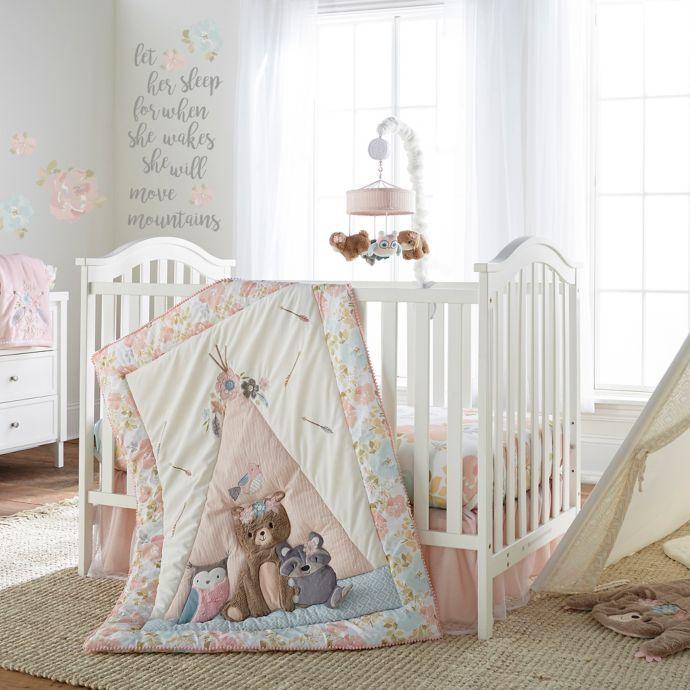 Levtex Baby Malia 4 Piece Crib Bedding Set In Pink Blue Buybuy