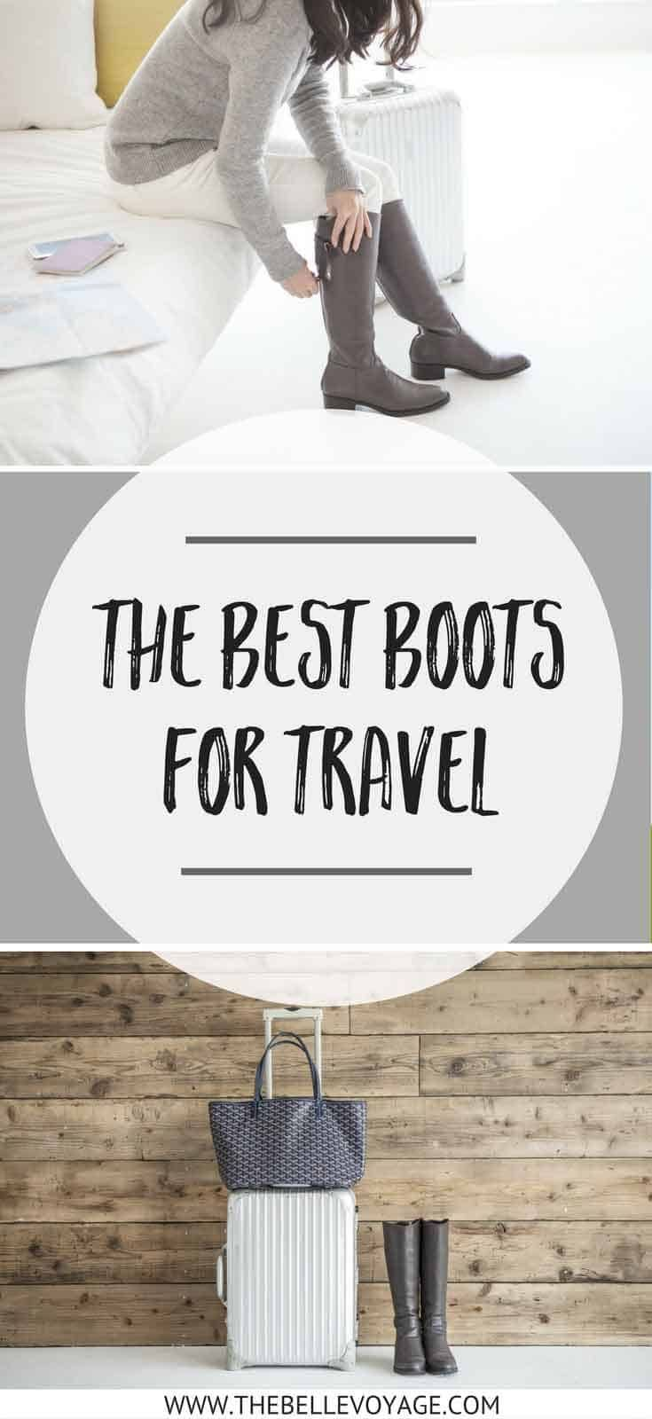 Comfortable Boots for Women | Travel Shoes for Europe | Travel Outfit Ideas | Airplane Outfit | Packing Tips | Shoes for Travel | Outfits with Boots | Ankle Boots | Knee High Boots | Riding Boots  via @thebellevoyage