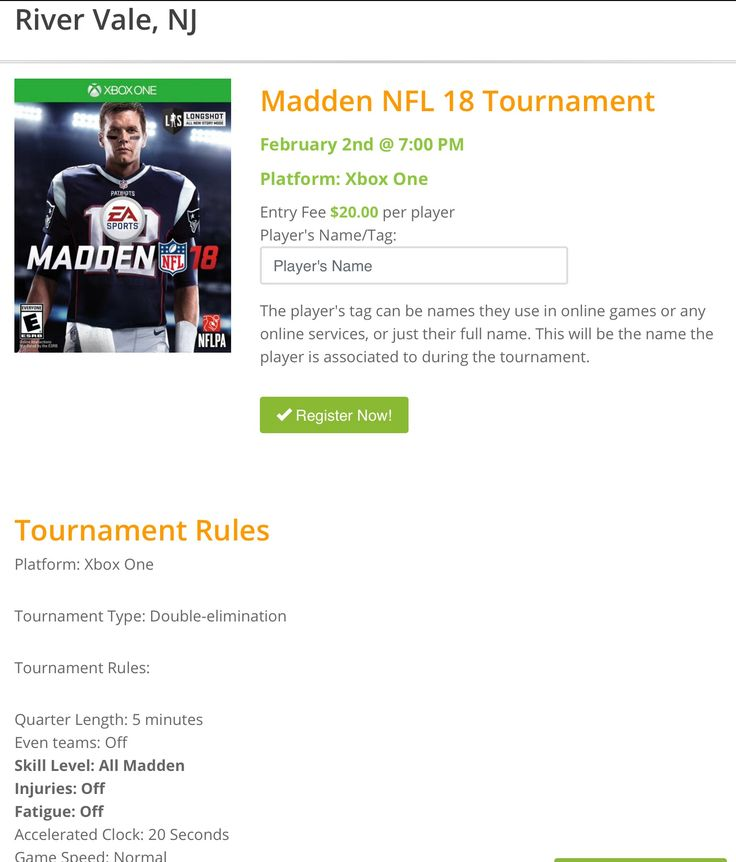 It's right around the corner, our Madden 18 Tournament is this Friday night! Register online or at any Gamers Paradise location!       #games #gaming #videogames #madden18 #nfl #superbowl #eagles #patriots #football #tournament #videogametournament