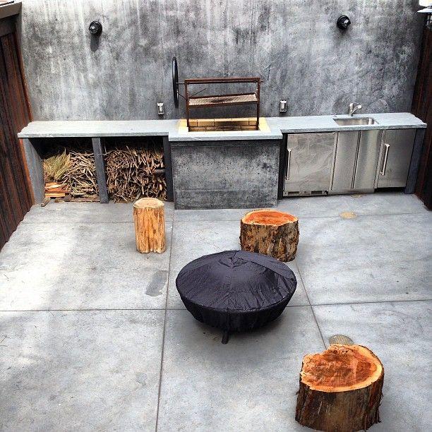 Rustic outdoor kitchen.