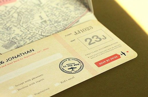 Boarding Pass Invites