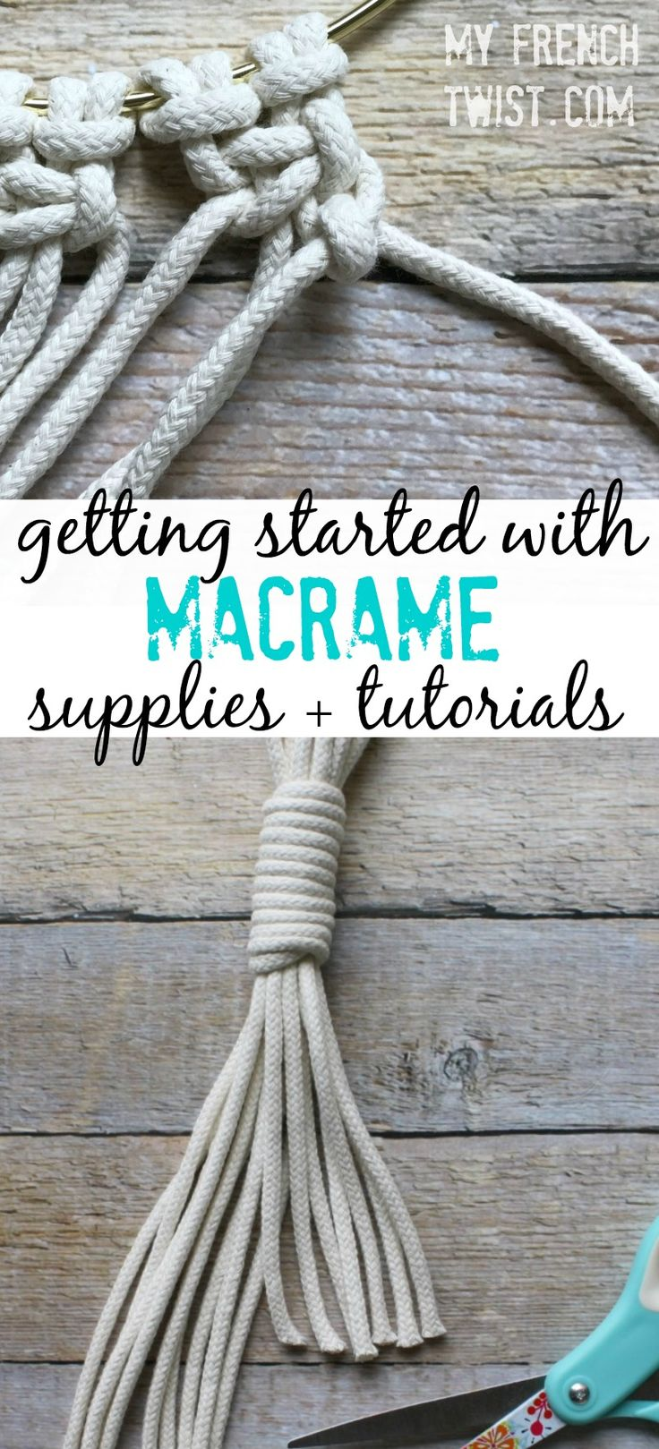 Ready to get started with macrame? Here are 3 great beginner tutorials! http://www.myfrenchtwist.com/getting-started-macrame-supplies-tutorials/
