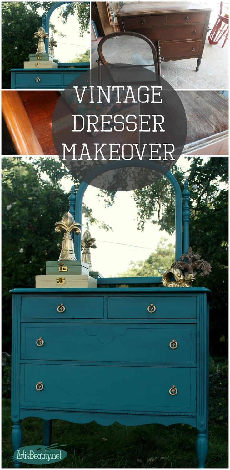 """ART IS BEAUTY: """"Estherbelle"""" Blue dresser makeover and winner of the COUNTRY LIVING FAIR tickets!"""