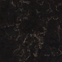 xcaret is a black quartz countertop design with dramatic gold veining samples available by calling