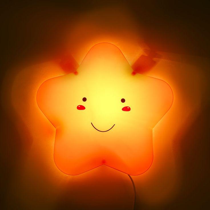 28 cm    Kinderen slaapkamer wandlamp lollipop sterren creatieve cartoon muur lampen en lantaarns van de babykamer nachtlampje om nachtkastje lamp in  van wandlampen op AliExpress.com | Alibaba Groep