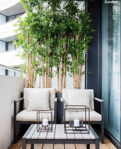 kleiner Balkon, Balkon Sichtschutz, Sitzmöbel Balkon, Balkon Bepflanzung, Ideen