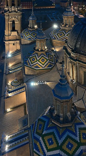 I can't wait to visit Spain <3--Domes | Basílica Nuestra Señora del Pilar, Zaragoza, Spain