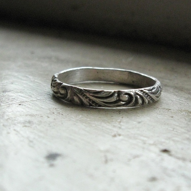 Narrow Renaissance Pattern Ring  Maybe wedding ring?