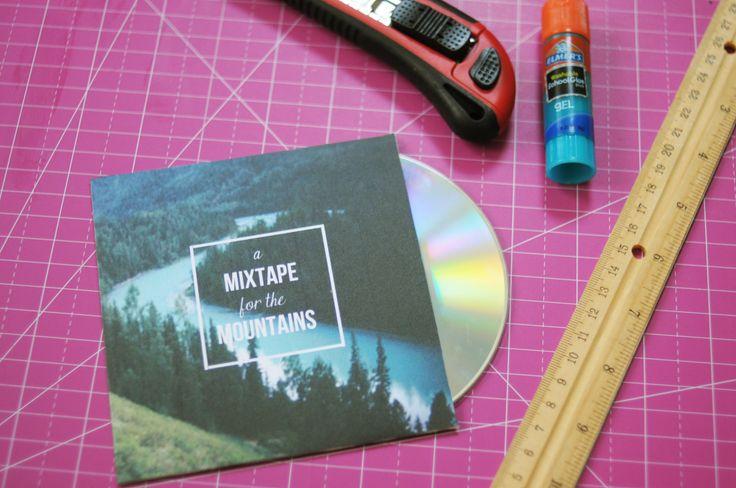 D.I.Y. Mixtape CD Sleeve-- I really love the graphics