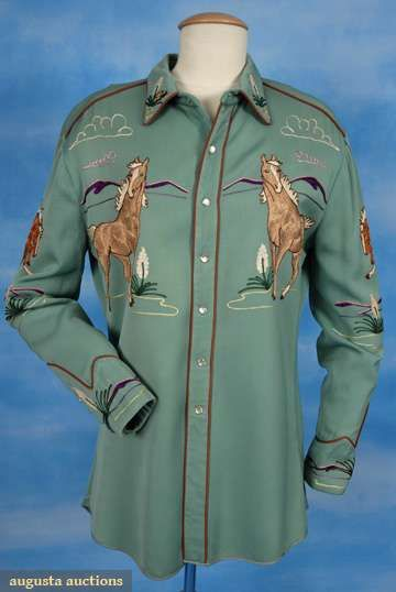 Viola Grae Embroidered Western Shirt, C. 1950, Augusta Auctions, October 2008 Vintage Clothing & Textile Auction, Lot 696