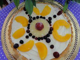 Bolo rápido, sobremesa rápida, tarte de fruta, tarte com queijo mascarpone.