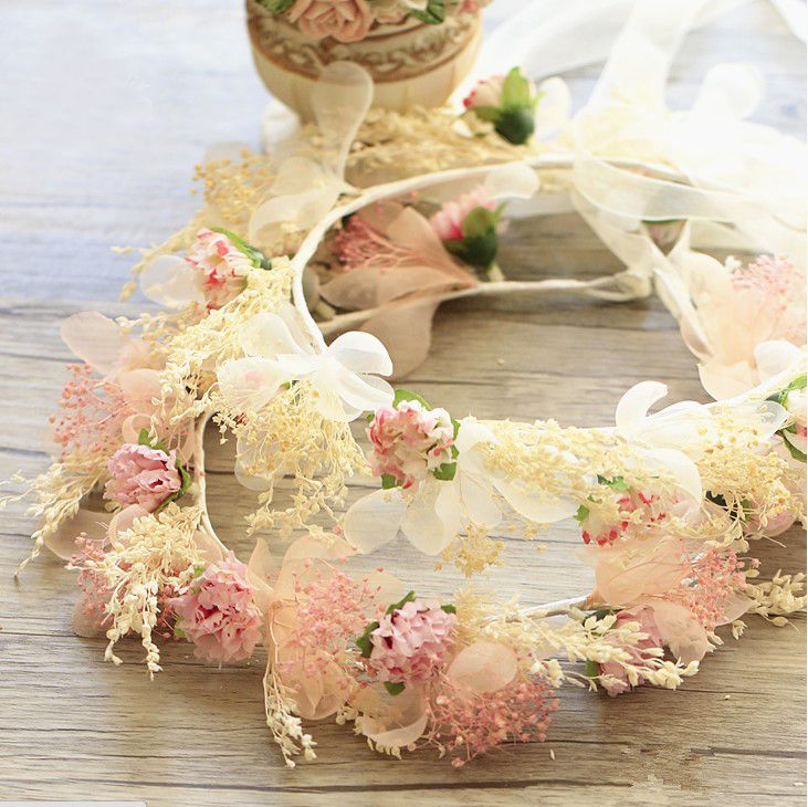 Find More Hair Accessories Information about 1pcs Handmade Dried Real Flower Crowns Fabric Carnation Flower Garland Wedding Party Woman Girls Tiaras Hair Accessories,High Quality hair practice,China hair elastin Suppliers, Cheap hair accessories supplier from Hair's Art Online Wholesale Store on Aliexpress.com