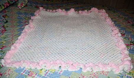 pink and brown crochet baby blanket patterns   Ruffle Granny Baby Afghan Crochet Pattern - Free Crochet Pattern ...