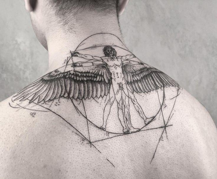 """706 Gefällt mir, 18 Kommentare – Instagram Tattoo Maker (@cansuolga): """"Leonardo Da Vinci • und du hast keine Ahnung • m a n @ equilattera @ blxckink"""