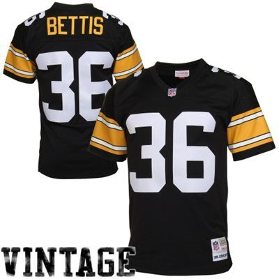 Retired Player replica jersey from Mitchell & Ness - Mens Pittsburgh Steelers Jerome Bettis Mitchell & Ness Black Retired Player Vintage Replica Jersey (XL)