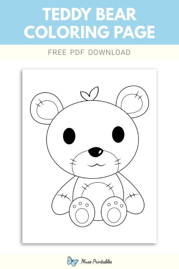 Free Teddy Bear Coloring Page Teddy Bear Coloring Pages Bear Coloring Pages Coloring Pages