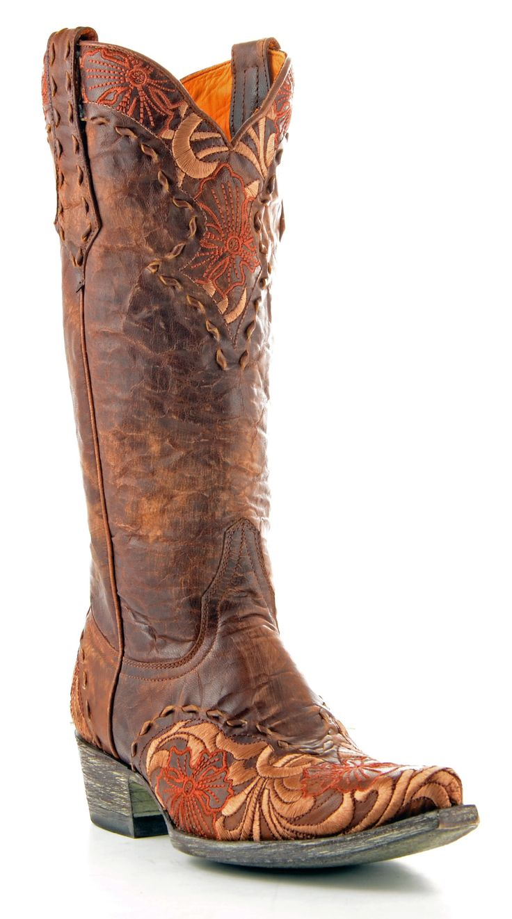 Womens Old Gringo Erin Boots in Brass