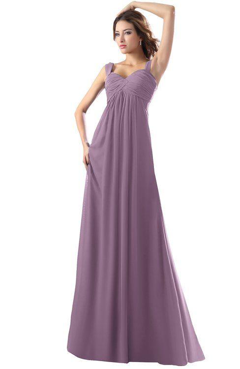 6b3f54e30d4 ColsBM Diana Valerian Modest Empire Thick Straps Zipper Floor Length Ruching  Prom Dresses