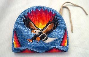 Fine Shoshone Native American Handmade Glass Beaded Eagle Wallet Bag Coin Purse  | eBay